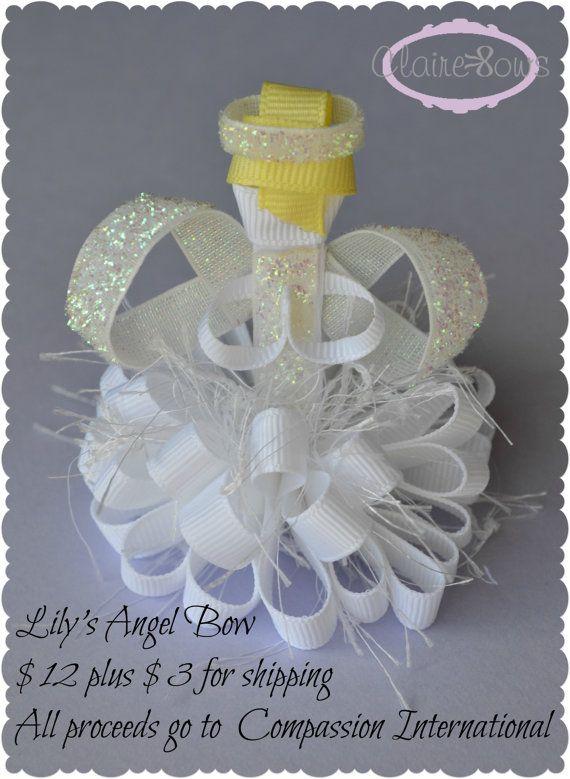 Christmas Ribbon Sculptures | Angel