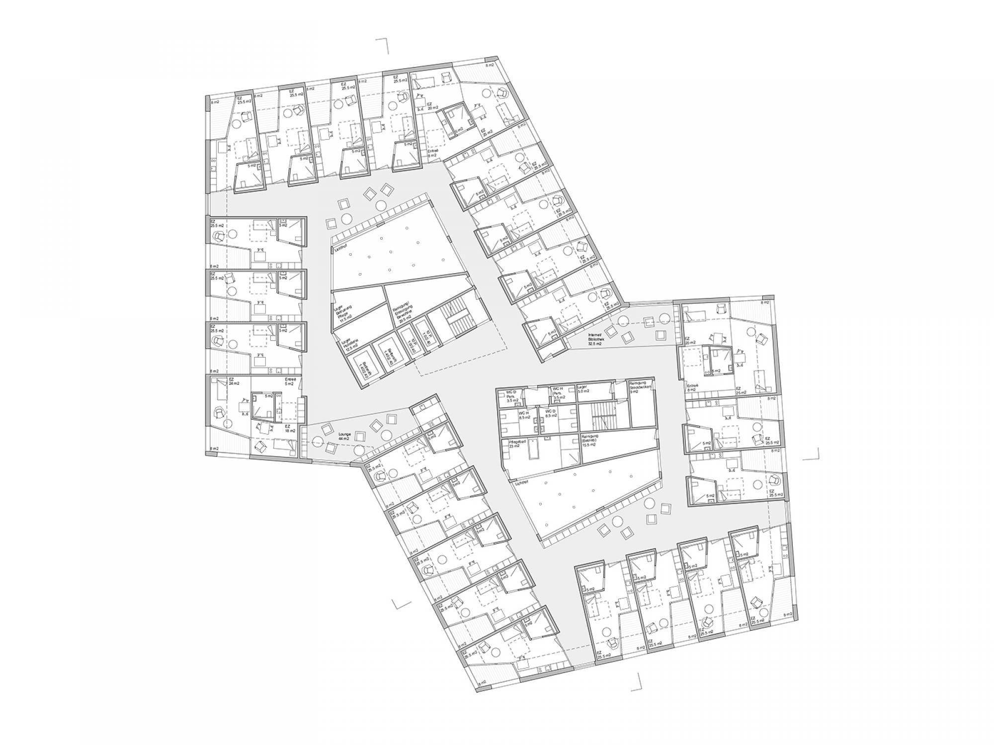 IGUAL&GUGGENHEIM Architekturbüro Grundriss, Pflegeheim