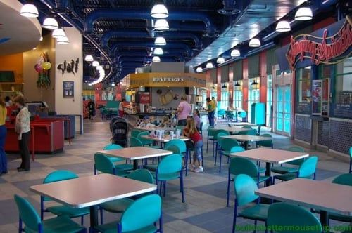 Dining room at the Intermission Food Court at Disney's All