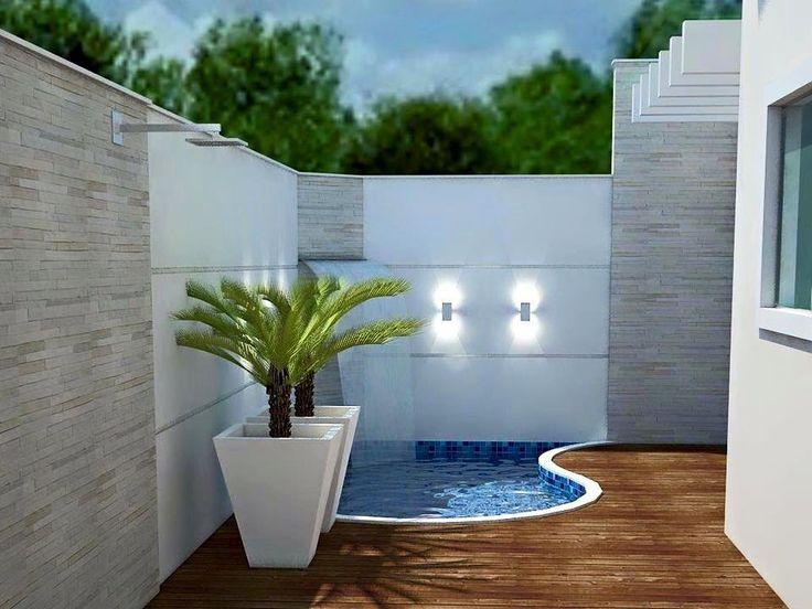 Resultado de imagem para piscina patio pequeño albercas