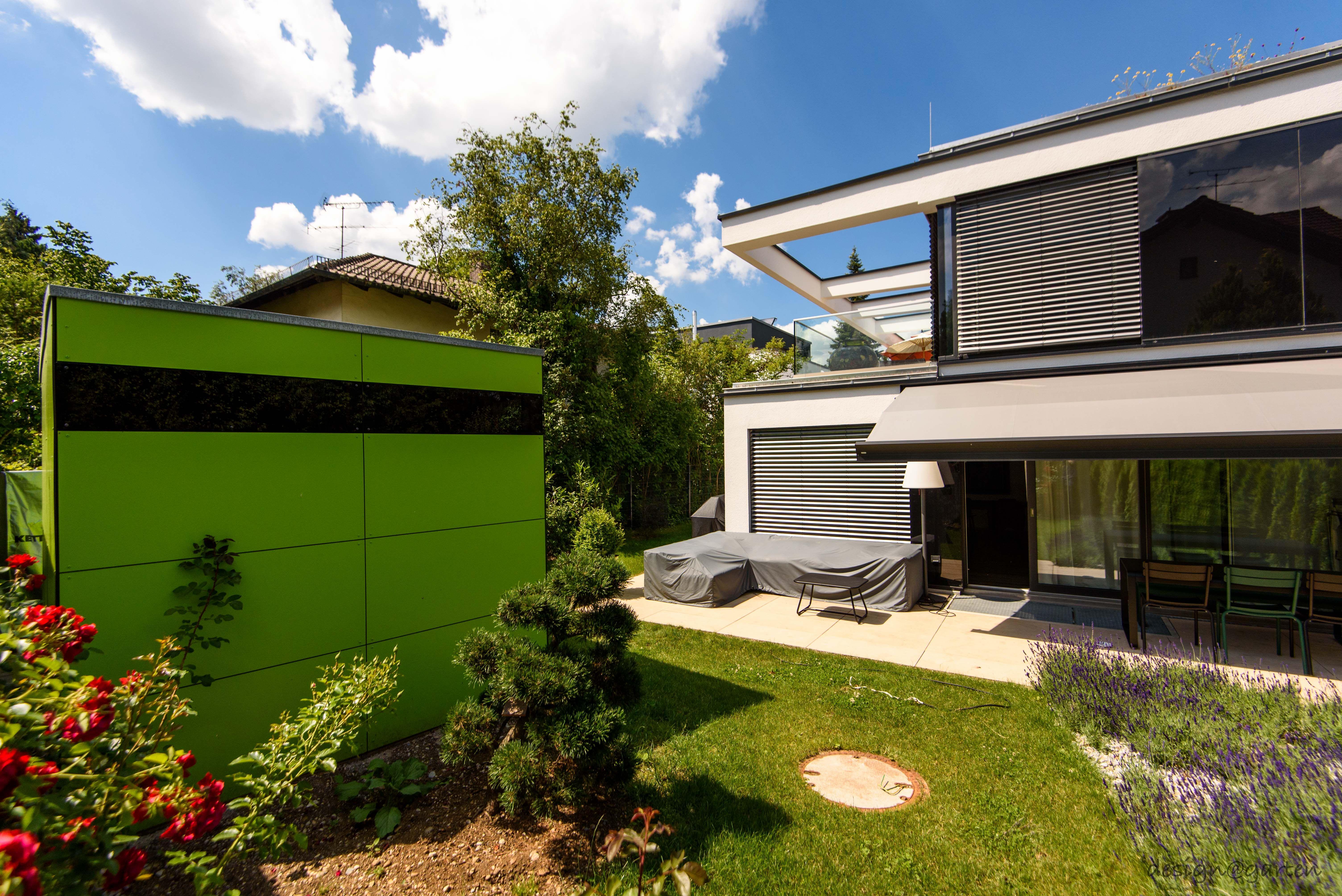 design gartenhaus @_gart drei | lime green | niemals streichen ...