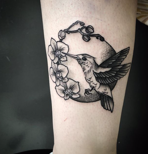 Super Cute And Dainty Blackwork Bird Tattoo With A Floral Frame Done By Susanna Of Scratchline Tattoo Hidden Hand Bird Hand Tattoo Hand Tattoos London Tattoo