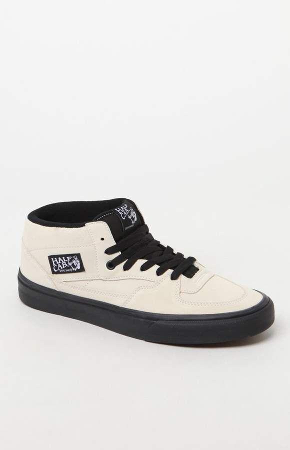 9b2a4aed08 Vans Half Cab Black Sole White Shoes