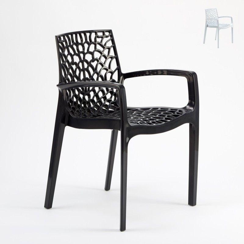Chaise En Polypropylène Accoudoirs Jardin Cafè Grand Soleil