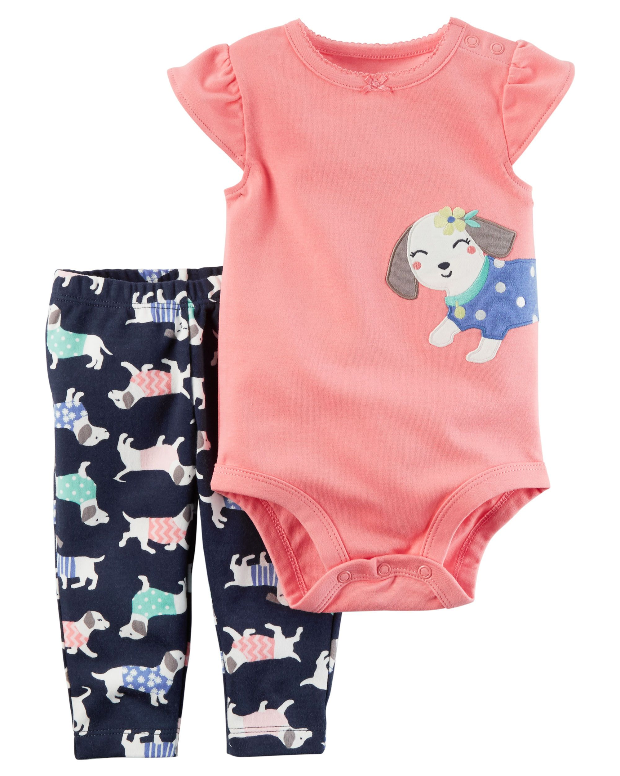 Minnie Mouse Cute 2 Piece Outfit Legging Dress 3-9 Month Toddler Baby Clothing