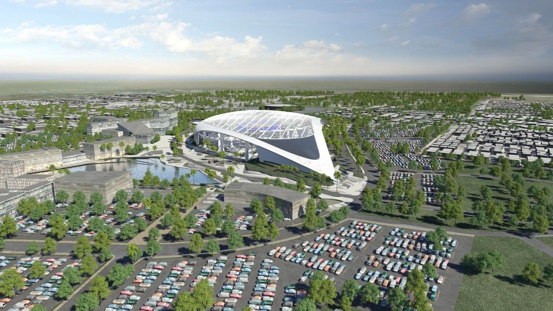 Los Angeles Rams Stadium To Be World S Most Expensive Cnn Com Los Angeles Rams Entertainment District Football Stadiums