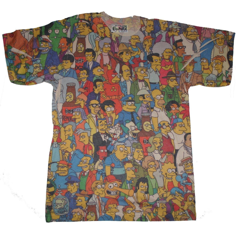 475f654ca8d1e6 Simpsons Springfield Crowd T-Shirt