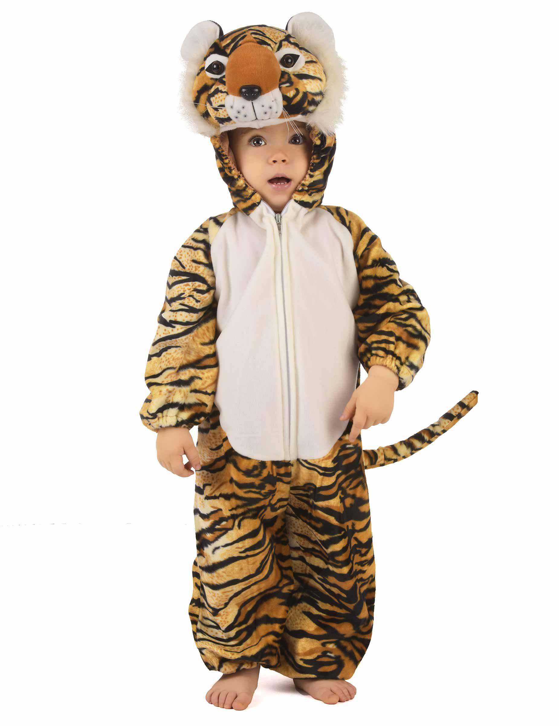 1a7ae6ad57f6a Déguisement tigre enfant   Ce déguisement de tigre pour enfant consiste en  une combinaison à capuche