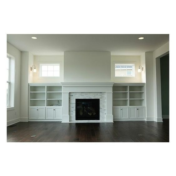 fireplace windows. Living room gas fireplace with mantle  built ins and windows Home