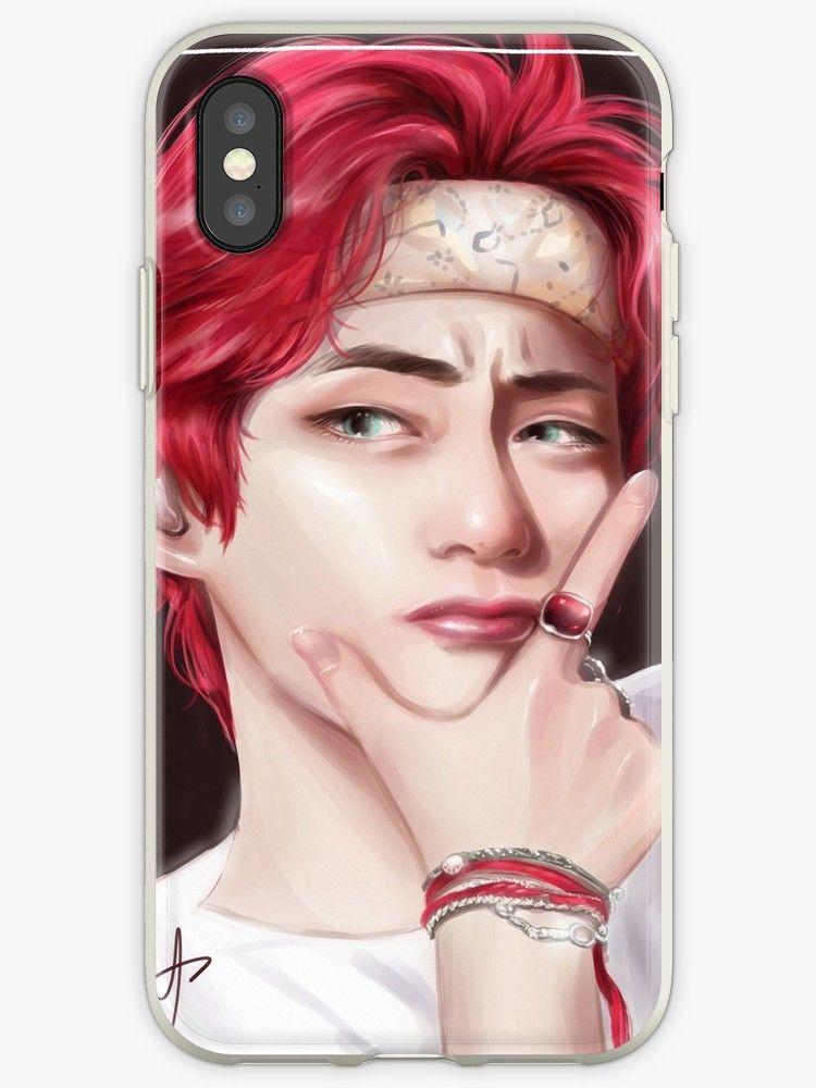 BTS V- Kim Taehyung red-hair fanart by BtsArmyStuff