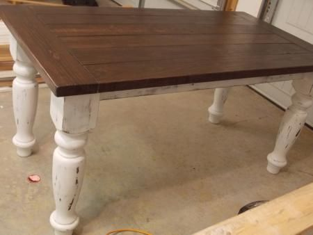 Turned Leg Farmhouse Table Do It Yourself Home Projects From Ana