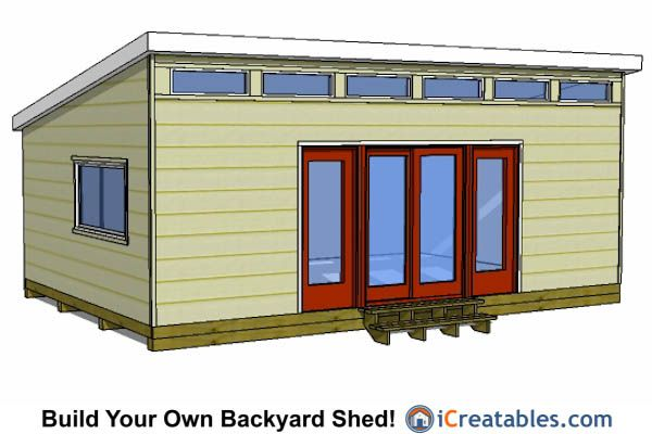 16x24 modern shed plans 16x24 shed plans pinterest Garage with studio plans