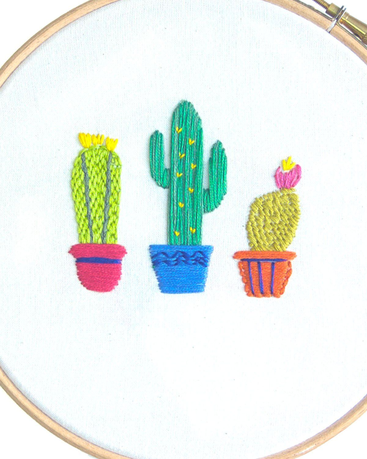 Arte Mexicano Pdf Potted Cactus Embroidery Pattern Pdf Embroidery Bordado