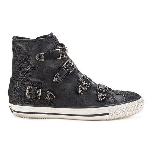 Ash boots, Black leather shoes