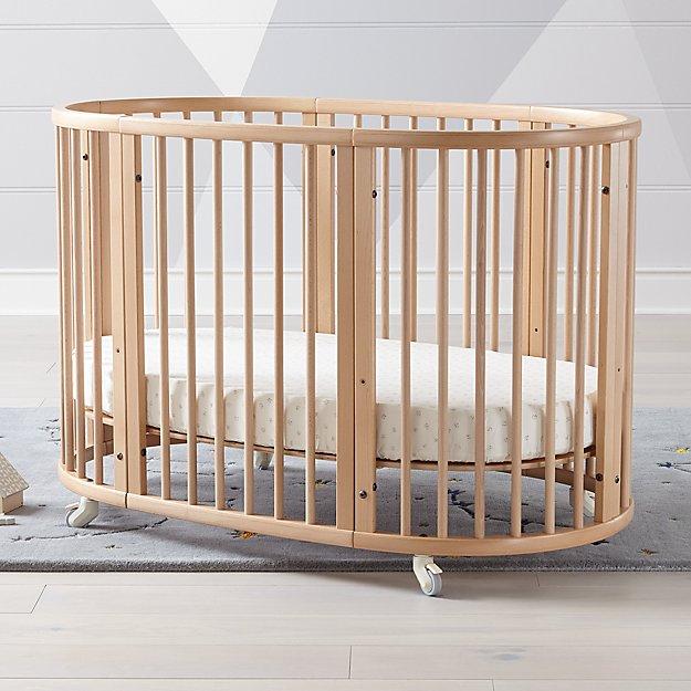 Stokke Natural Convertible Sleepi Crib And Toddler Bed Oval