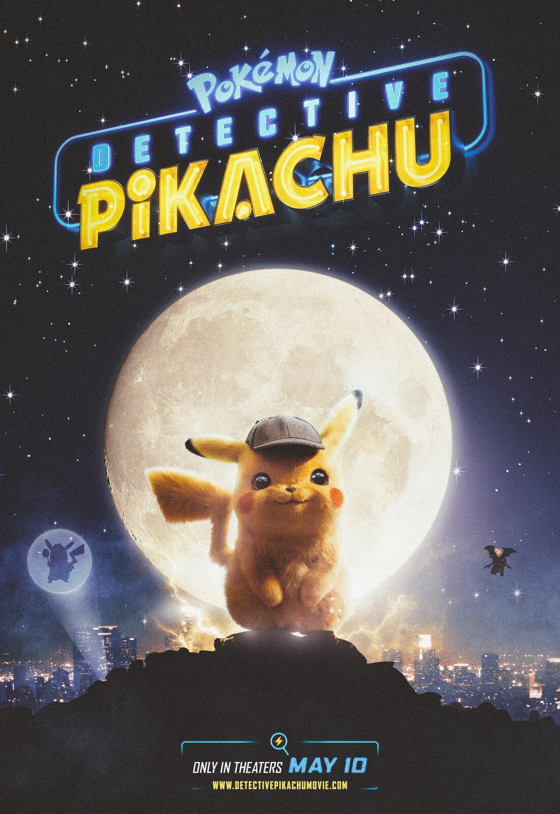 "Pokemon Detective Pikachu Poster Movie Ryan Reynolds Art Print 18x24/"" 14x21/"""