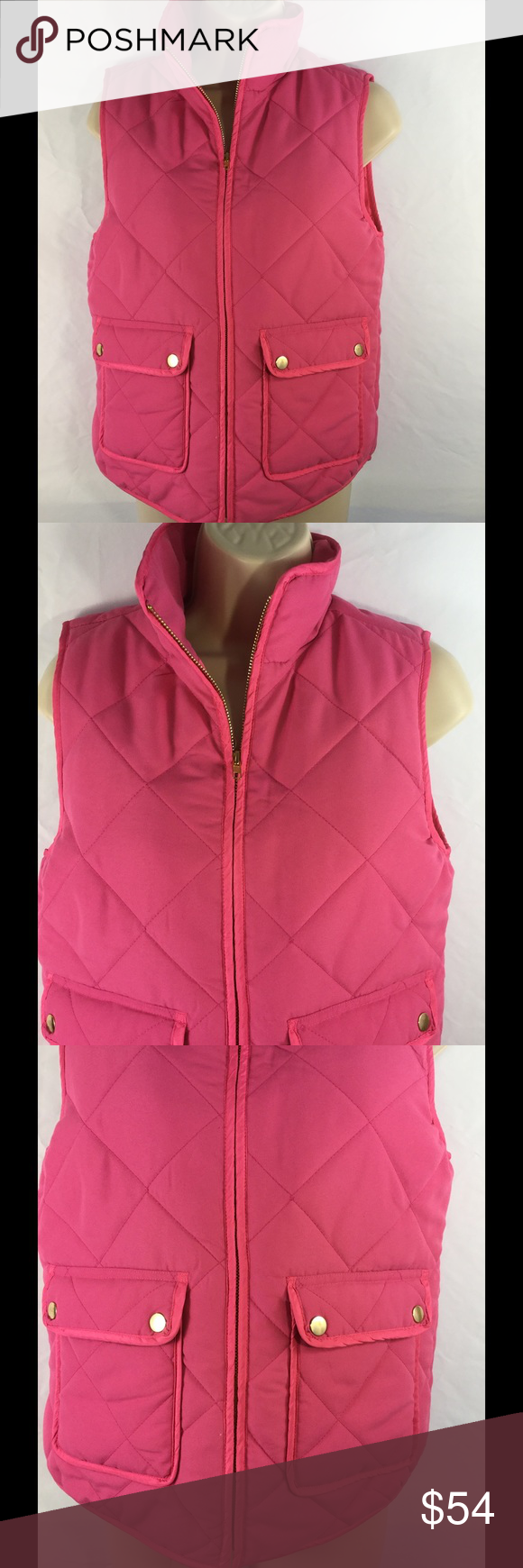 """Dee Elle pink zip front puffy vest..NWT Measures small...34"""" bust..24"""" length 100% polyester and lining..new with tags Dee elle Jackets & Coats Vests"""