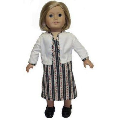 Doll Clothes Superstore Colonial Dress and Jacket Doll Clothes fits 18 inch doll #colonialdolldresses