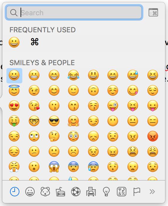 macOS Comment insérer des emojis dans un texte en 2020