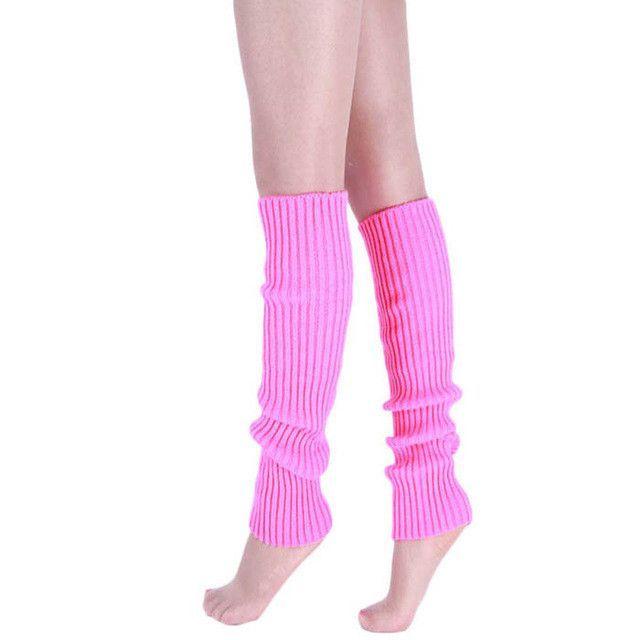 Charming Fashion Women Winter Candy Colour Warm Leg Warmers Lady Girl Knitted Crochet Long Winter Warmmer Stocking Nov1