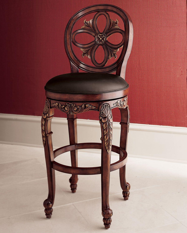 Quot Rosalie Quot Swivel Barstool Horchow Furniture Bancos