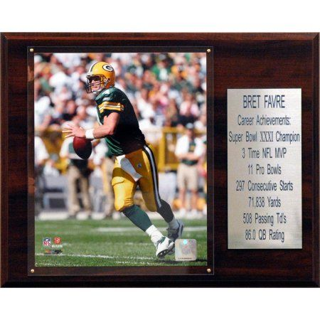 C Collectables NFL 12x15 Brett Favre Green Bay Packers Career Stat Plaque