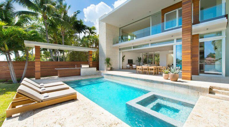 Casa Moderna Di Lido Island Miami Beach Florida Casas Miami Arquitetura Casas Arquitetura Conceitual