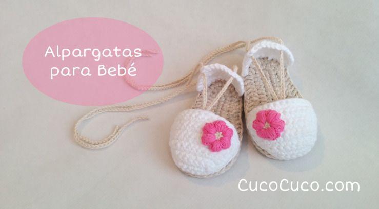 Sandalias a crochet para bebé   Pinterest   Alpargatas, El paso y ...