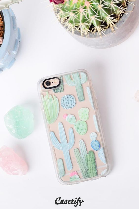 online store 3ce61 3ed27 Desert Cactus Garden // Watercolor Cacti | SHINE THROUGH iPhone case ...