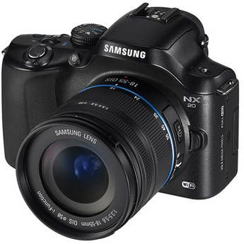 Samsung 20.3Mp NX20 Mirrorless Wi-Fi Digital Camera with 18-55mm Lens (Black)
