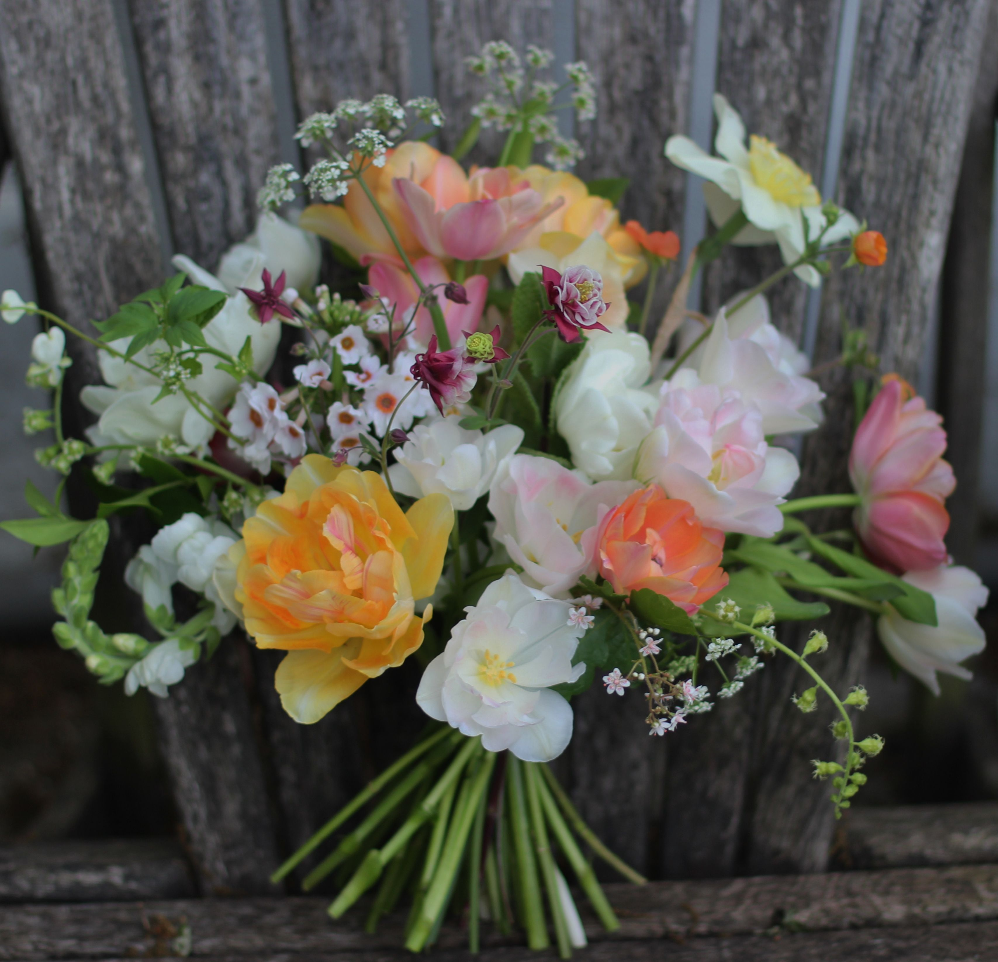 Lock Cottage Flowers Surrey UK Spring Garden Bouquet