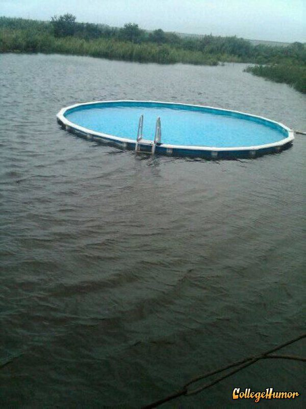 Above Ground Pool In Water My Home Pinterest Ground Pools Lakes And Water