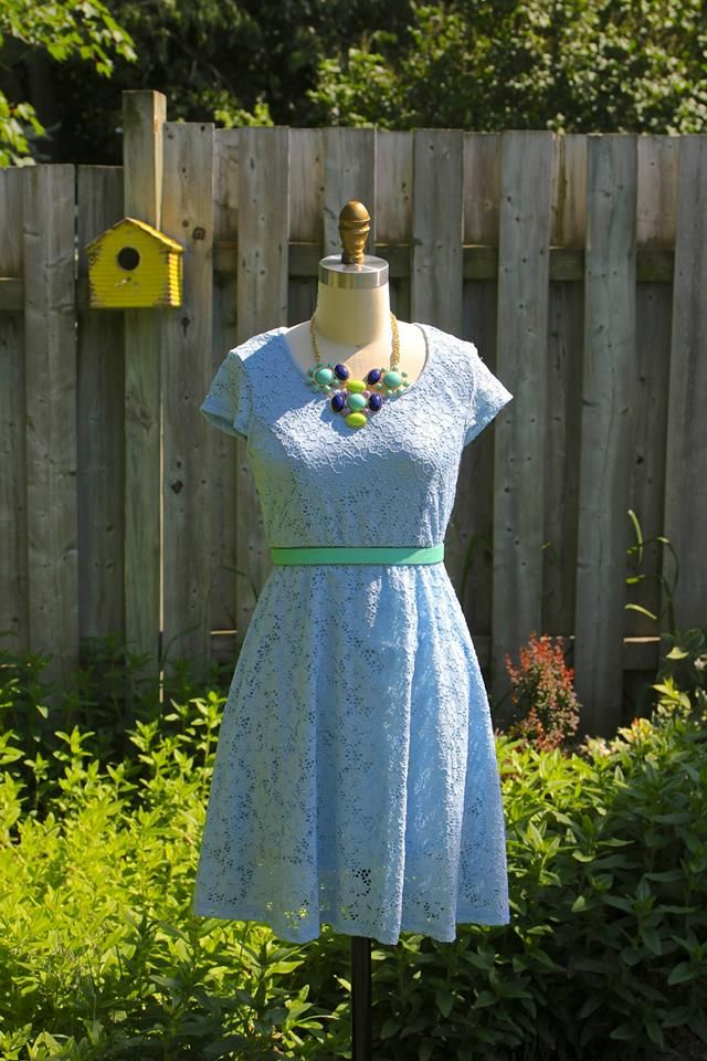 Pretty eyelet, chambray dresses make for fun summer days!