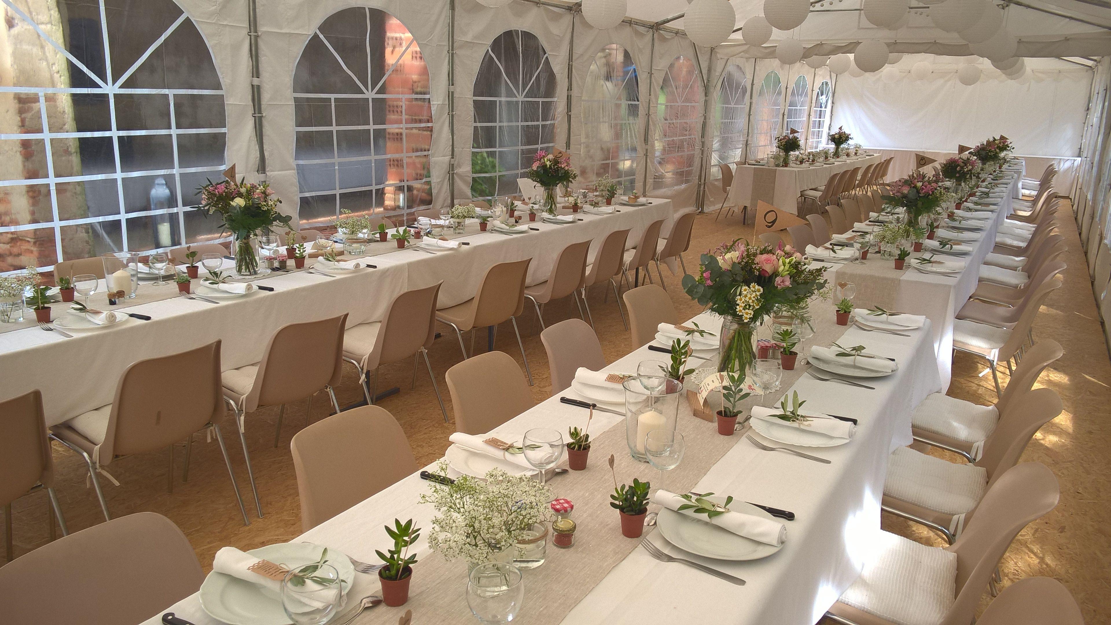 Déco de table (simple et fait maison) pour un mariage