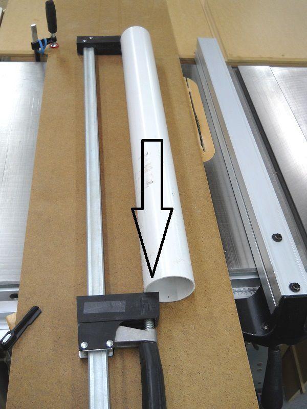 cutting pvc pipes lengthwise couper les tuyaux de pvc longitudinalement pinterest pipe. Black Bedroom Furniture Sets. Home Design Ideas