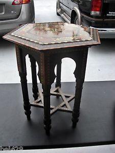 Jewish sacrament table prayer table star of david inlaid