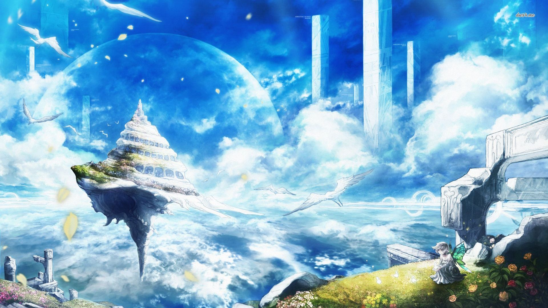 Floating island wallpapers Floating island stock photos