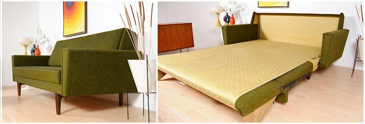1968 Danish Sleeper Sofa Modernes