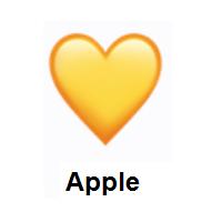 Meaning Of Yellow Heart Emoji Heart Emoji Yellow Heart Emoji