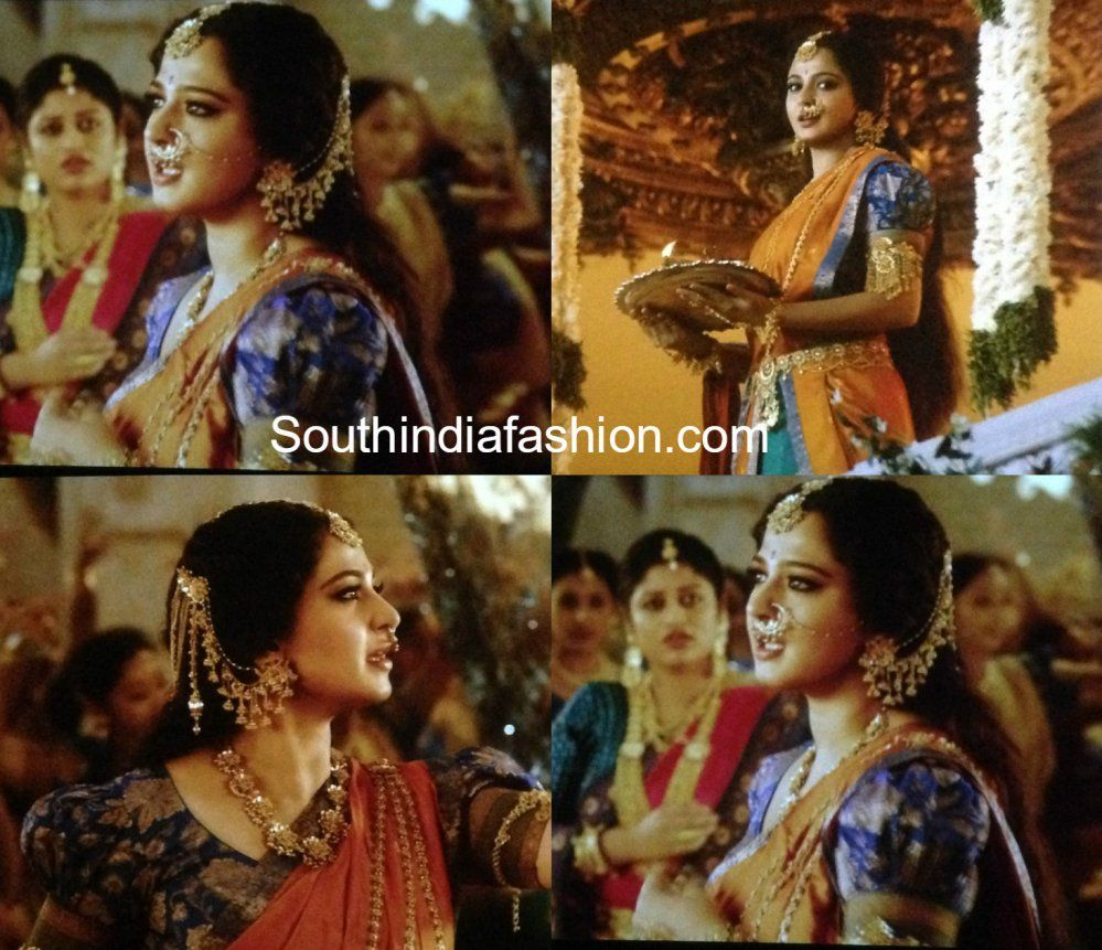 Anushka Shetty As Princess Devasena In Baahubali 2 The Conclusion Saree Half Saree Blouse Models