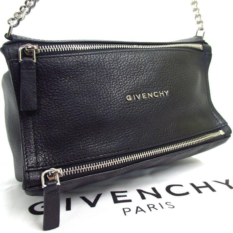 67adcad5de218c GIVENCHY TE B 1107 Mini Pandora Chain Shoulder Bag Leather Metal Used