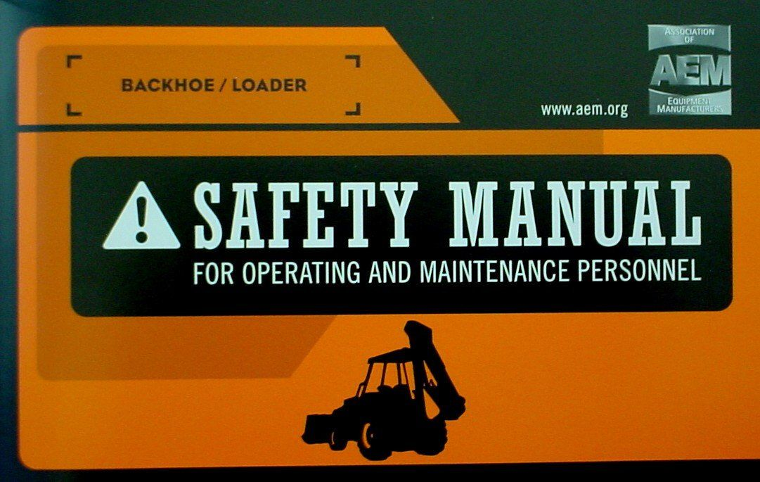 Backhoe  Loader Safety Manual  Backhoe Loader Safety And Products