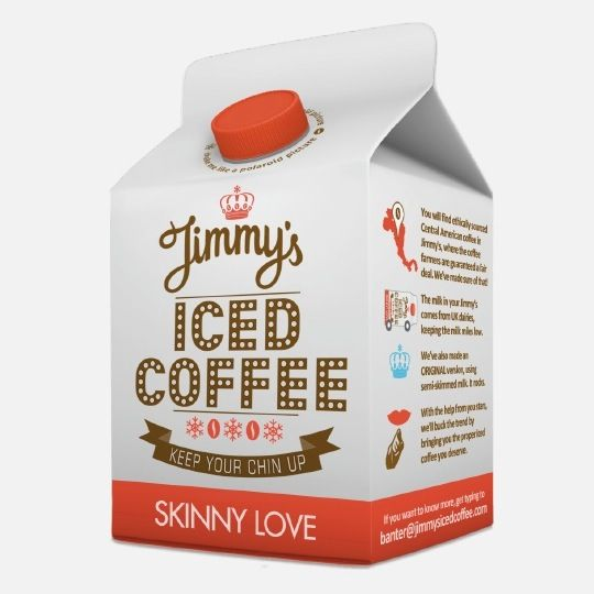 Jimmy's Iced Coffee #package #packaging #graphic #design