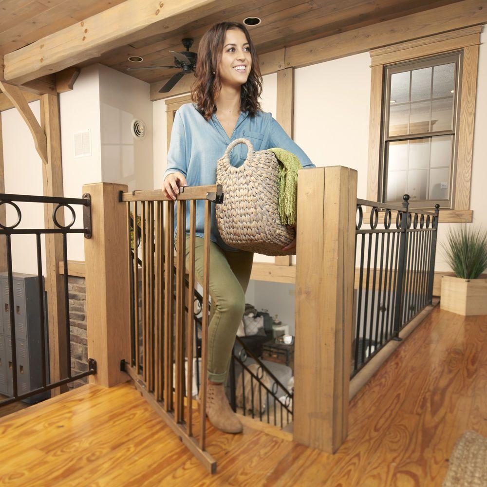 Baby Safety Gate Mount Extra Wide Walk Thru Door Child Pet