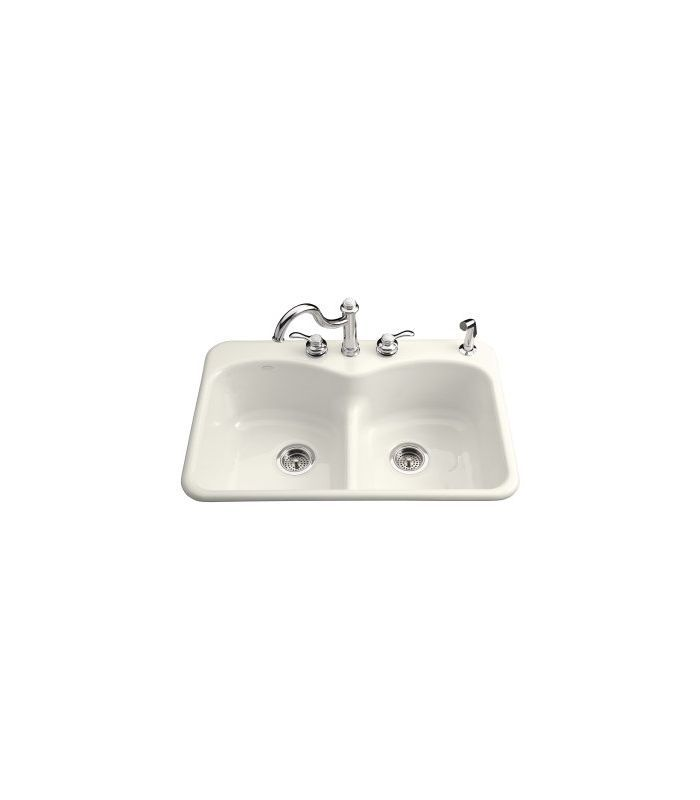Kohler K 6626 3f Cast Iron Kitchen Sinks Kitchen Fixtures Sink