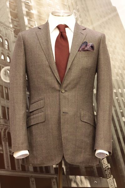 Red tie, brown suit | Wedding Attire | Pinterest | Brown suits and ...