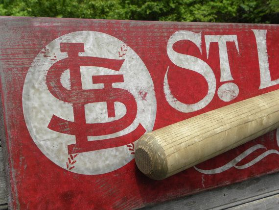 st louis cardinals baseball sign wooden original hand. Black Bedroom Furniture Sets. Home Design Ideas