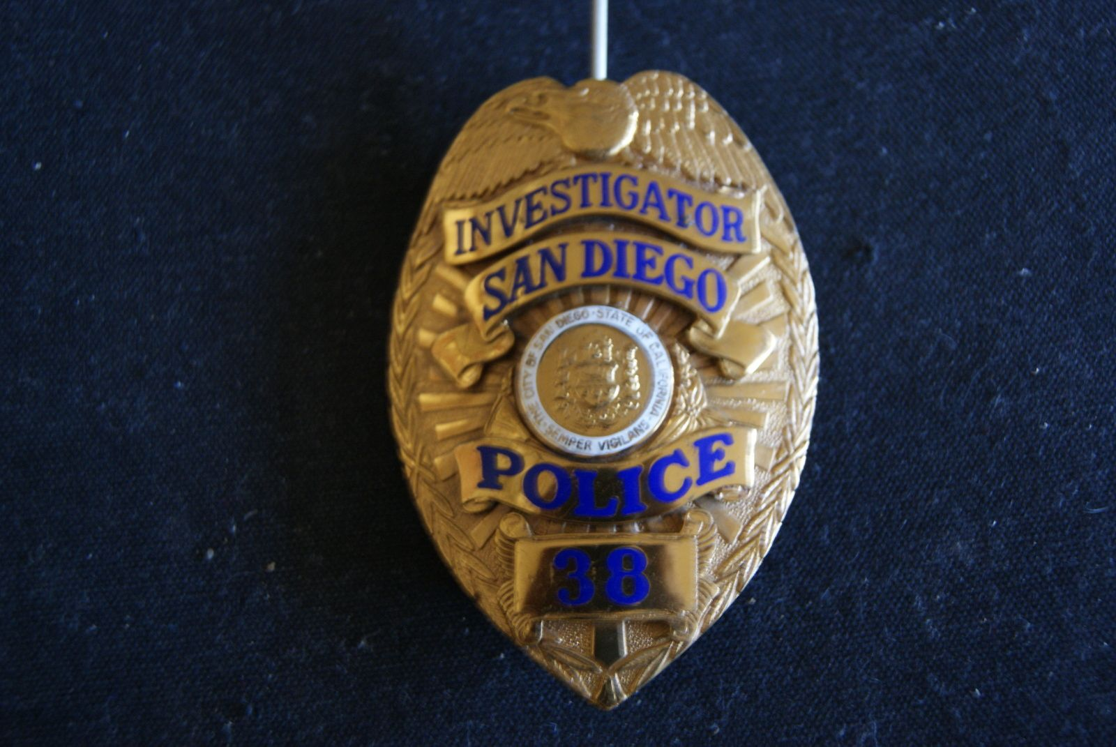 San Diego Police Department adopted its Eagle top shield in