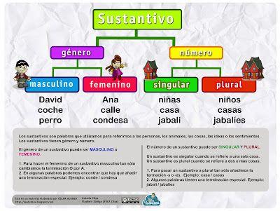 La Eduteca Esquemas E Infografía Sustantivos Y Adjetivos Sustantivos Y Sus Clases Sustantivo