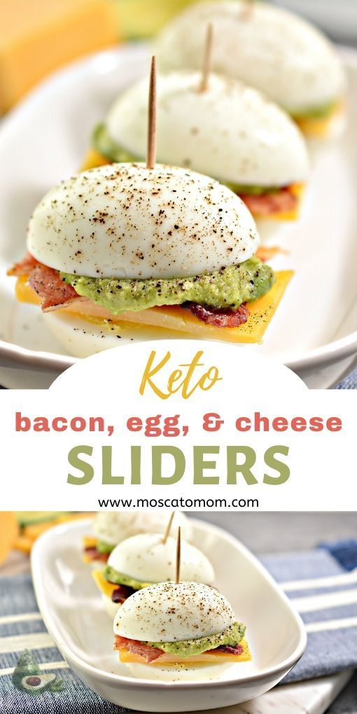 Easy Keto Appetizer - Bacon, Egg, and Cheese Slide